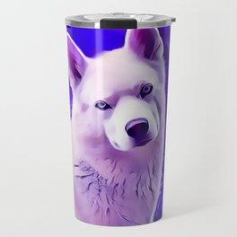 Isabella White Siberian Husky Travel Mug