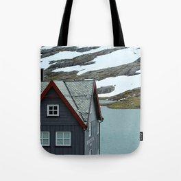 House in the Trollstigen Mountains Tote Bag