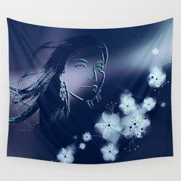 Dark Woman Wall Tapestry