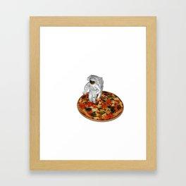 $.50 per topping Framed Art Print