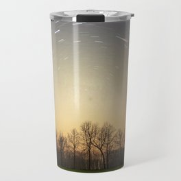 Stars Trails With Trees Travel Mug