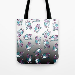 Corgi in Watercolor Splash Tote Bag