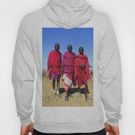 3 African Men from the Maasai Mara Hoody