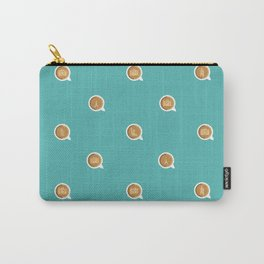 Connecting Over Coffee Travel Mug Icons (Teal) Carry-All Pouch
