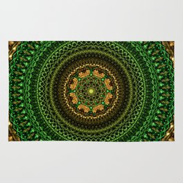 Forest Eye Mandala Rug