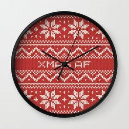 XMAS AF Wall Clock