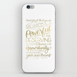 Pursue Your Dreams - Gold iPhone Skin