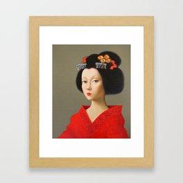 Portrait of a Geisha 3. Framed Art Print
