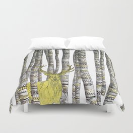 The Golden Stag Duvet Cover