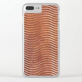 Copper wave Clear iPhone Case