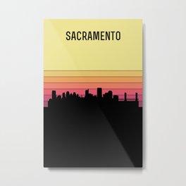 Sacramento Skyline Metal Print