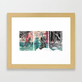 Geisha No Sanpo Framed Art Print