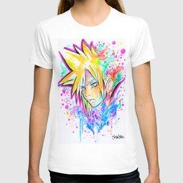 Original - CLOUD STRIFE - Watercolor Painting - Playstation T-shirt