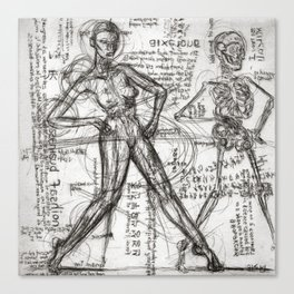 Clone Death - Intaglio / Printmaking Canvas Print