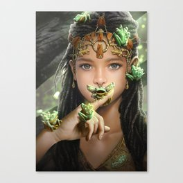 The princess and the frogs Canvas Print