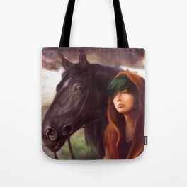 A Boy and His Horse Tote Bag