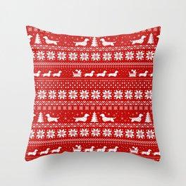 Love Joy Peace Wiener Dogs Throw Pillow