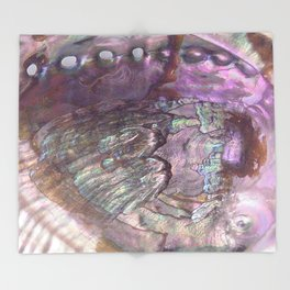 Shimmery Lavender Abalone Mother of Pearl Throw Blanket