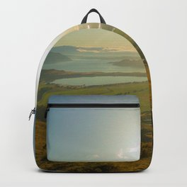 lake wanaka covered in blue colors new zealand beauties and mountains at sunrise person Backpack