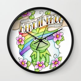 The Muppets Series ~ Kermit the Frog Wall Clock