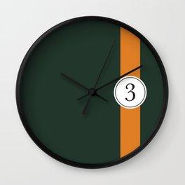 racing stripe .. #3 Wall Clock
