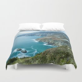 Sea Cliffs of Slieve League Duvet Cover
