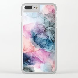 Heavenly Pastels: Original Abstract Ink Painting Clear iPhone Case