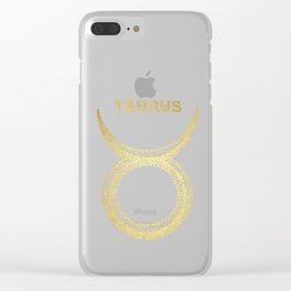 Taurus Zodiac Sign Clear iPhone Case