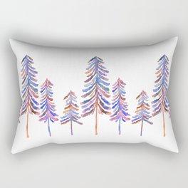 Pine Trees – 90s Color Palette Rectangular Pillow