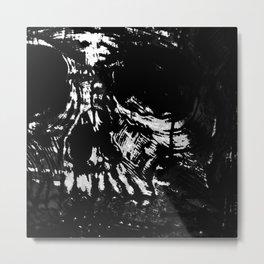 Toxic White Metal Print