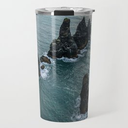 Sea stacks on the Icelandic Coast near Vik - Landscape Photography Travel Mug