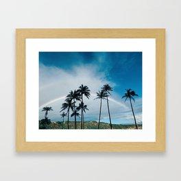 Hanauma Bay Rainbows Framed Art Print