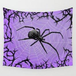 Briar Web- Purple Wall Tapestry