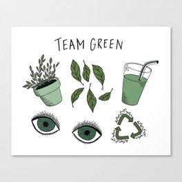 Team Green Canvas Print