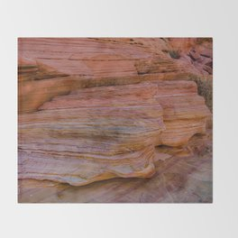 Colorful Sandstone, Valley of Fire - IIa Throw Blanket