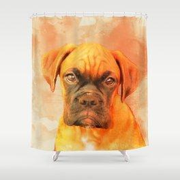 Boxer Dog Shower Curtain