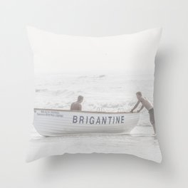 Brigantine Lifeboat Throw Pillow