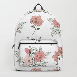 Delicate floral. Backpack