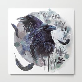 Full Moon Fever Dreams Of Velvet Ravens Metal Print