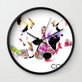 moxie the corgi Wall Clock