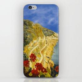 Vintage Amalfi Italy Travel iPhone Skin