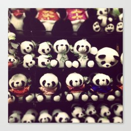 Shanghai Pandas Canvas Print