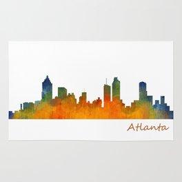 Atlanta City Skyline watercolor Hq v1 Rug
