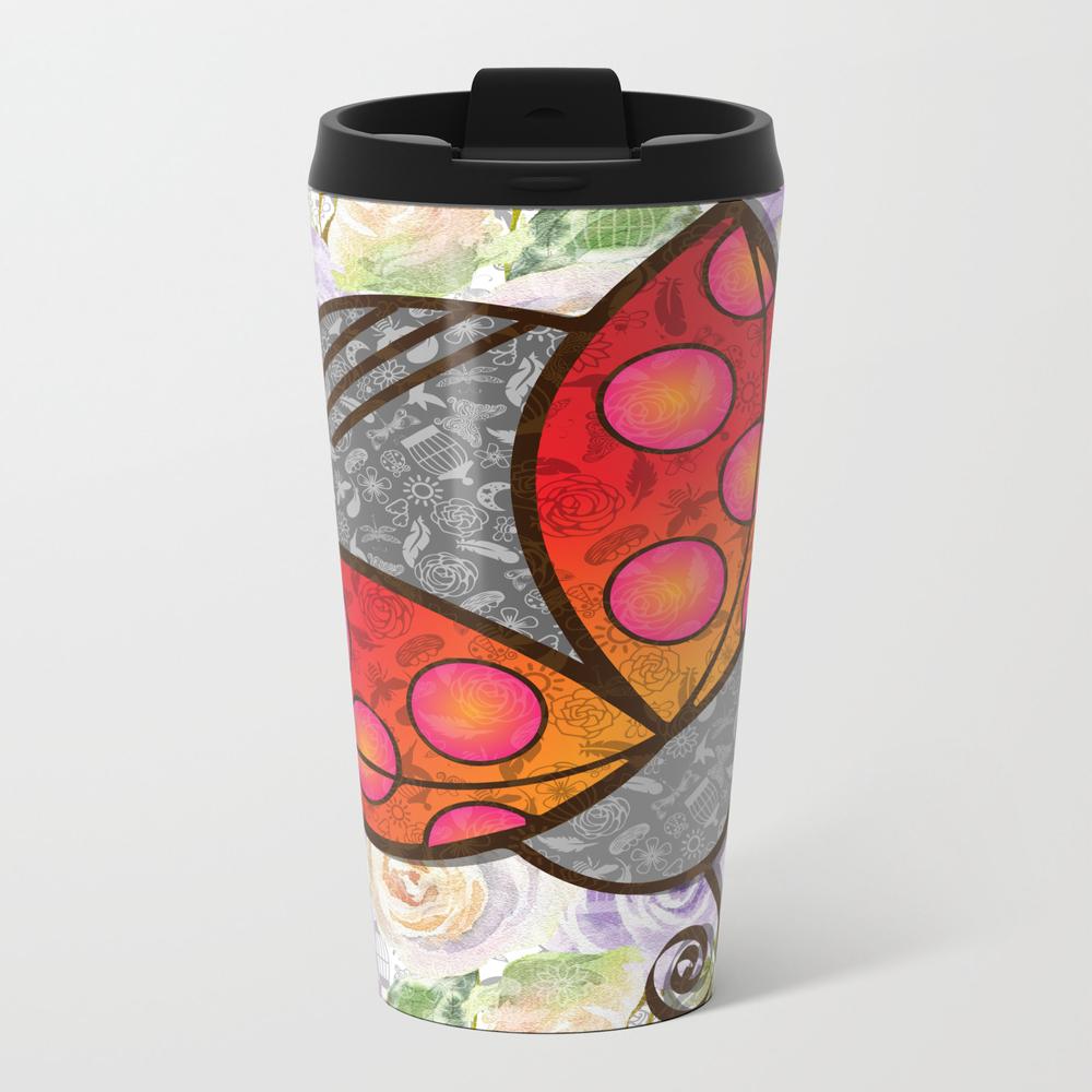 Flights Of Fancy - Ladybug Metal Travel Mug by Susanstraubmartin MTM8868491