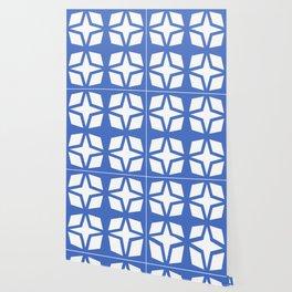 Mid Century Modern Star Pattern Blue 552 Wallpaper