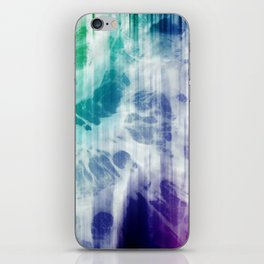 Boho Chic Blue Tie-Dye iPhone Skin