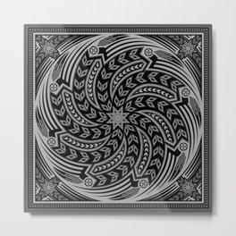 Wind Spirit (Gray) Metal Print