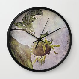rural sky sunflower Wall Clock