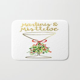 Mistletoes and Martinis Bath Mat