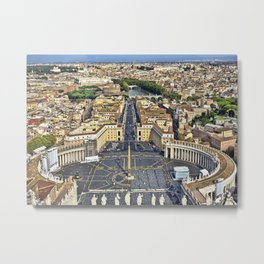 St Peter's Square in Rome, Italy Metal Print